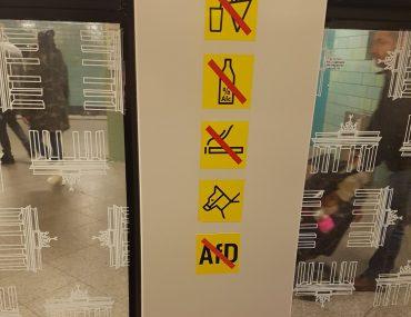 No AfD-Aufkleber