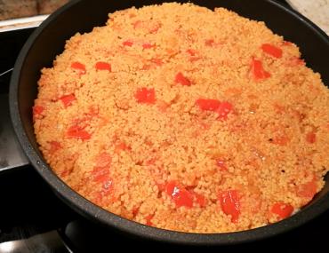 Couscous in der Pfanne