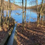 Damm zwischen Ober- und Mittelsee, Ville-Seenkette Erftstadt