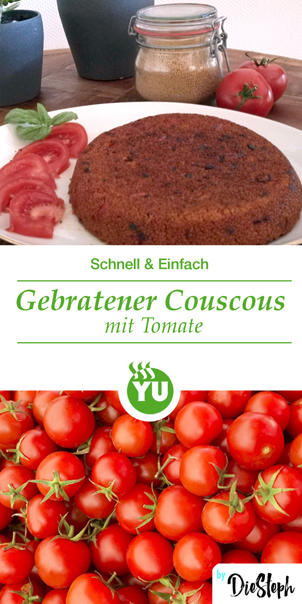 Pin Rezept Gebratener Couscous mit Tomate