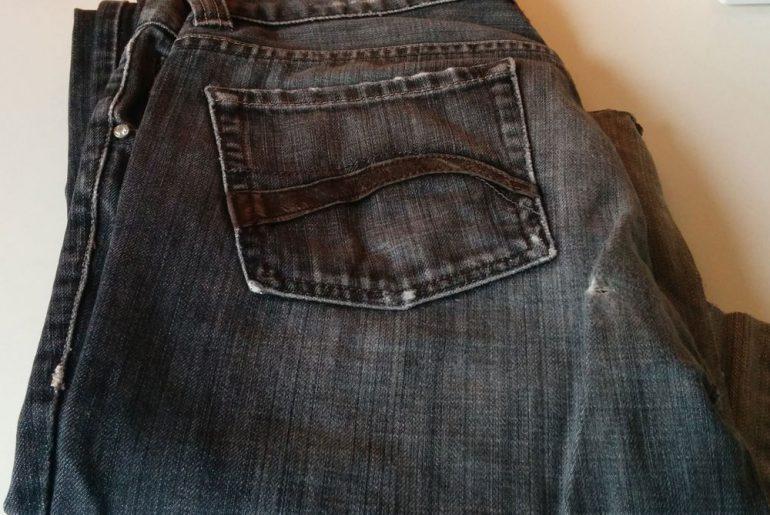 Foto der alten Jeans