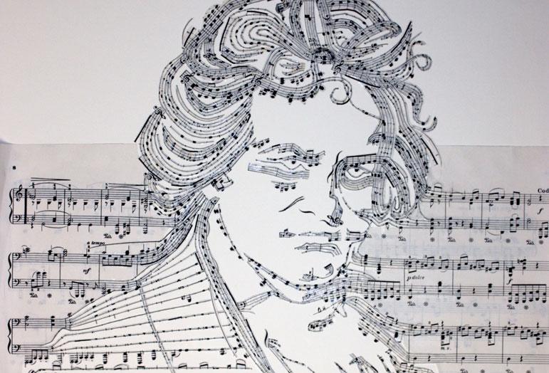 Porträt Beethoven von Iri5