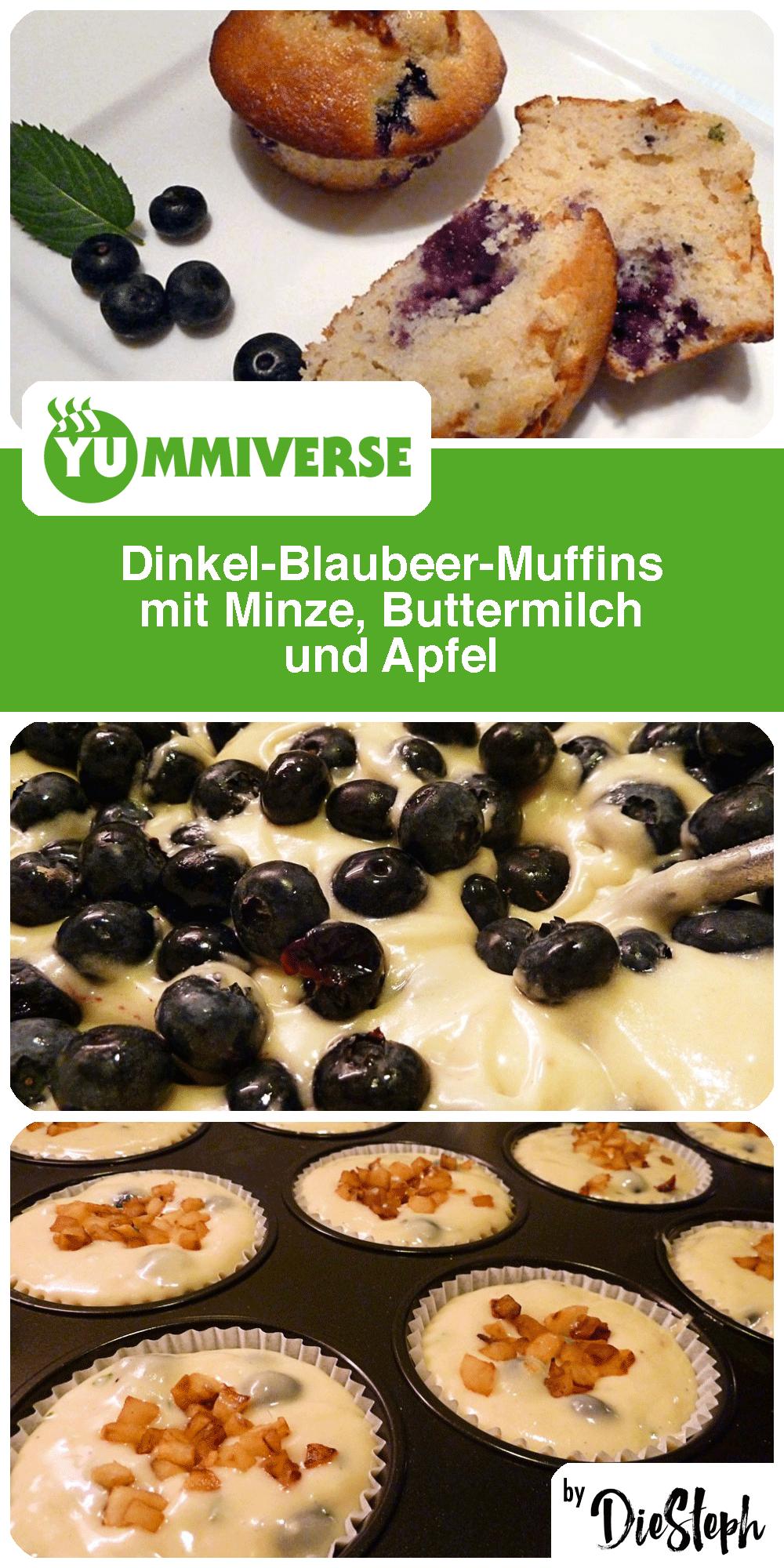 Dinkel-Blaubeer-Muffins