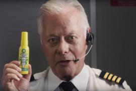 Pilot mit Pre-Poop Spray
