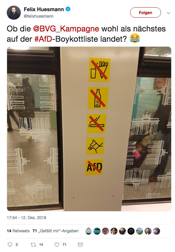 Aufkleber auf BVG UBahn